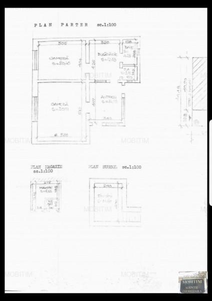 MOBITIM  vinde Casa 2 camere,teren 340mp, Zona Paris - Cluj-Napoca