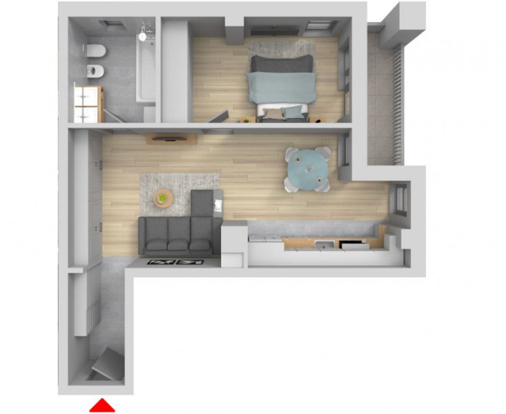 MOBITIM vinde Apartament 2 Cam Zona Polus Inceput de Floresti  !