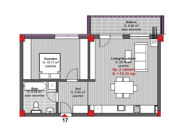 Comision 0% Apartament 2 camere finisat, constructie noua, -Floresti