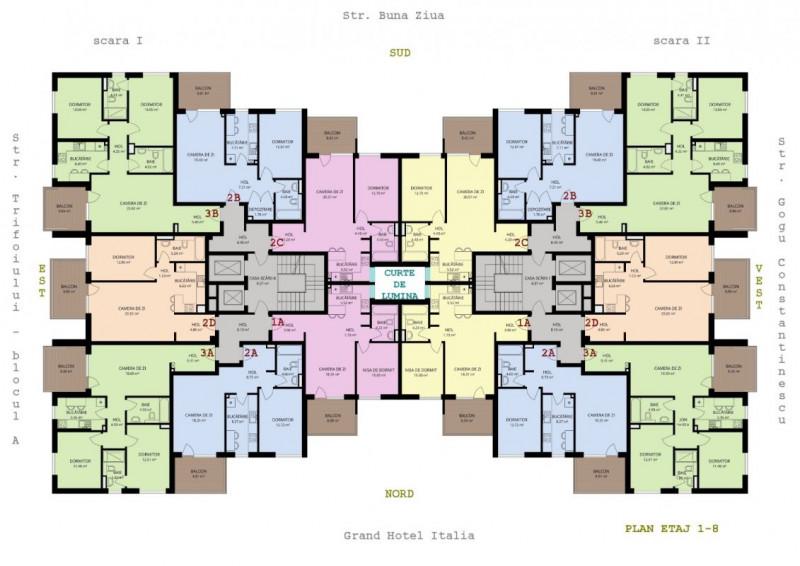 Apartament 3 camere FINISAT  in Buna Ziua langa Grad Hotel Italia